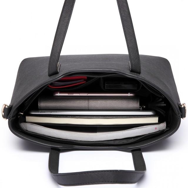 Kabelka - kabelka přes rameno + crossbody kabelka s taštičkou, černá