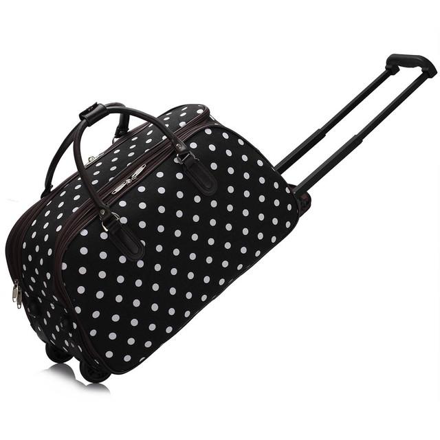 Cestovní taška - tečkovaná, černá