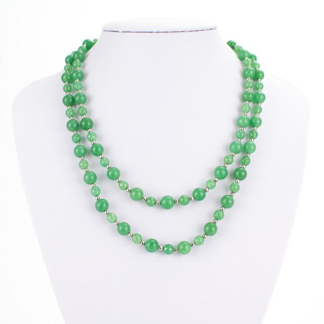 Náhrdelník - Avanturín dvouřadý, zelený