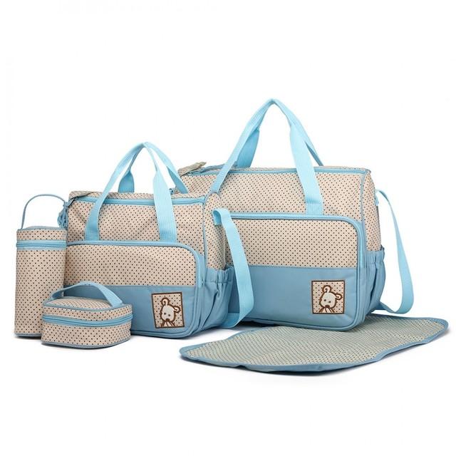 Set pro maminky - tečkovaný, s podložkou, modrý