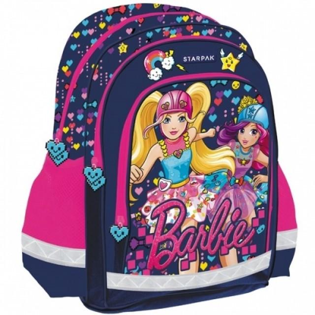 Batoh - Barbie s potiskem, do školy, tmavomodrý