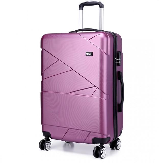 Kufr - plastový s proplétaným efektem, Kono, malý, fialový