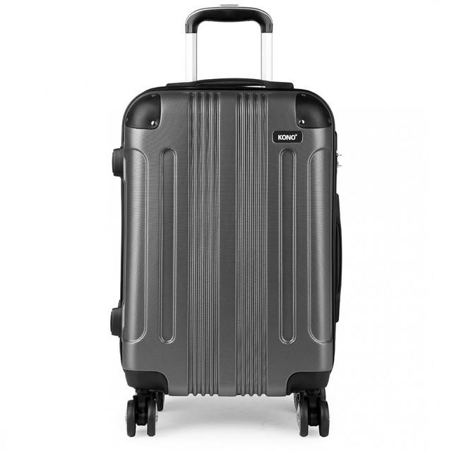 Kufr - Kono, unisex cestovní plastový velký, šedý