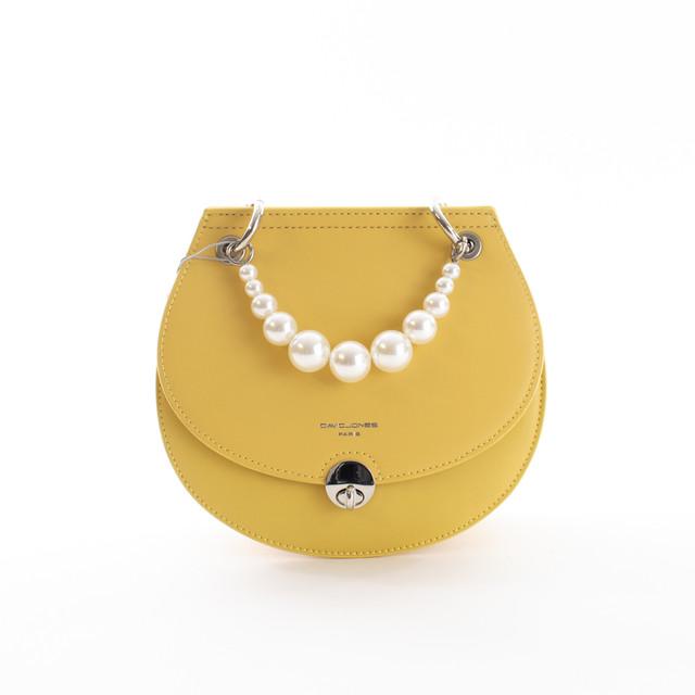 Kabelka - crossbody s perlami DJ, žlutá