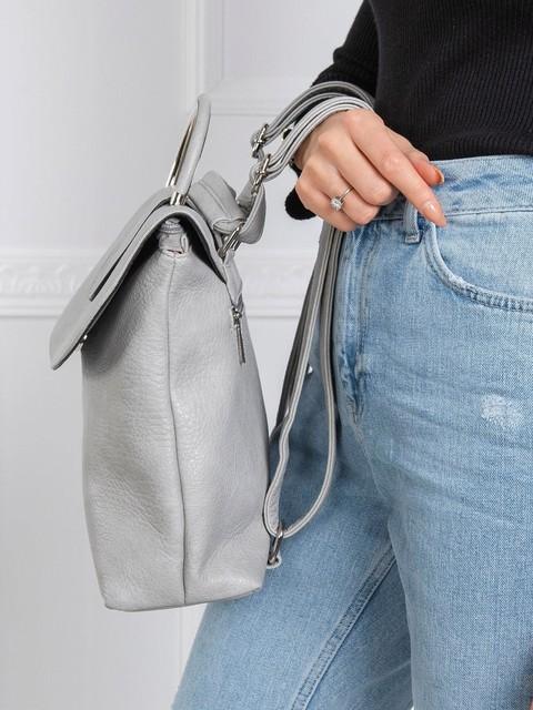 Batoh - na rameno, koženkový, šedý