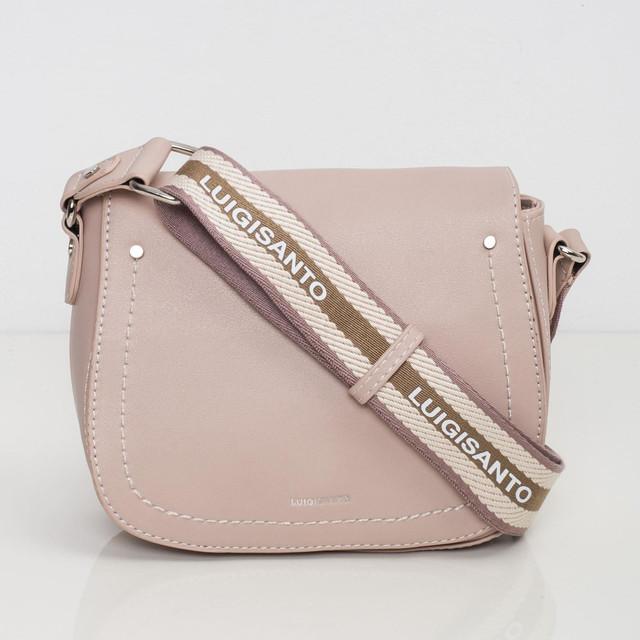 Kabelka - crossbody saddle Luigisanto, růžová