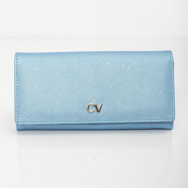 Peněženka - saffiano na druk, modrá