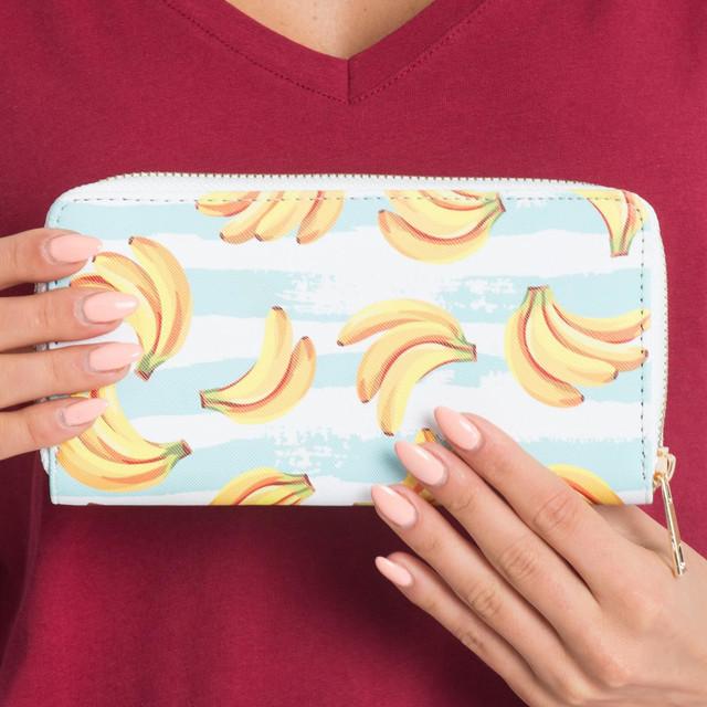 Peňeženka - s banány bílá