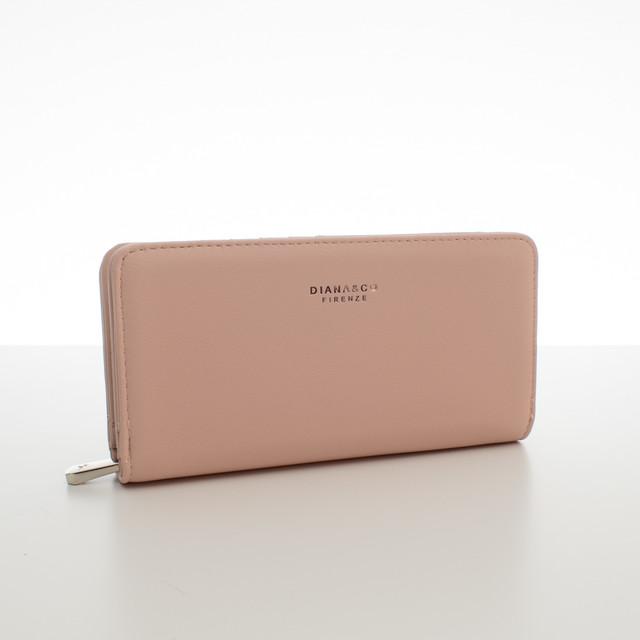 Peněženka - elegantní Diana do kabelky, růžová