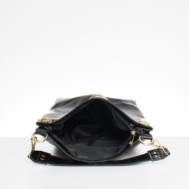 Kabelka - Laura Biaggi s řetízkem černá