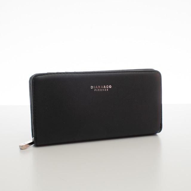 Peněženka - elegantní Diana do kabelky, černá
