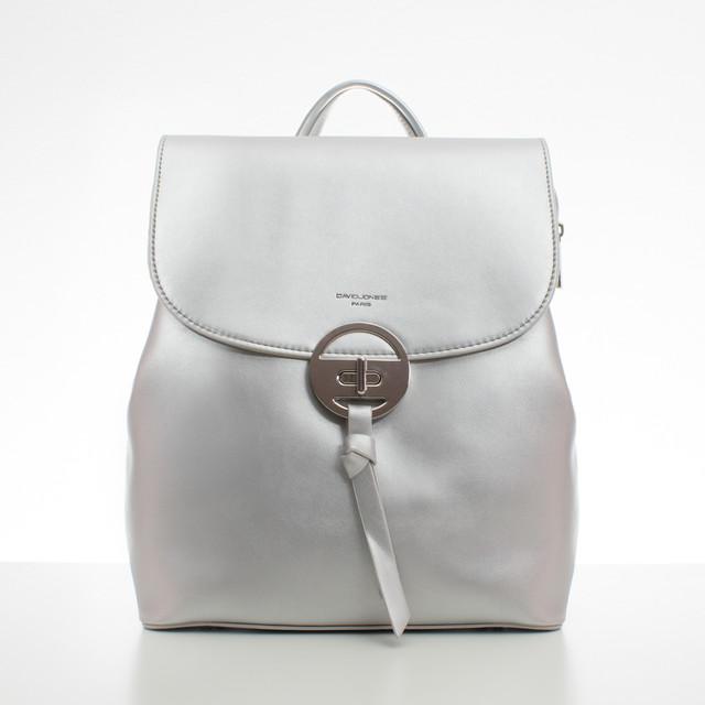 Batoh - elegantní s doplňky David Jones, stříbrný