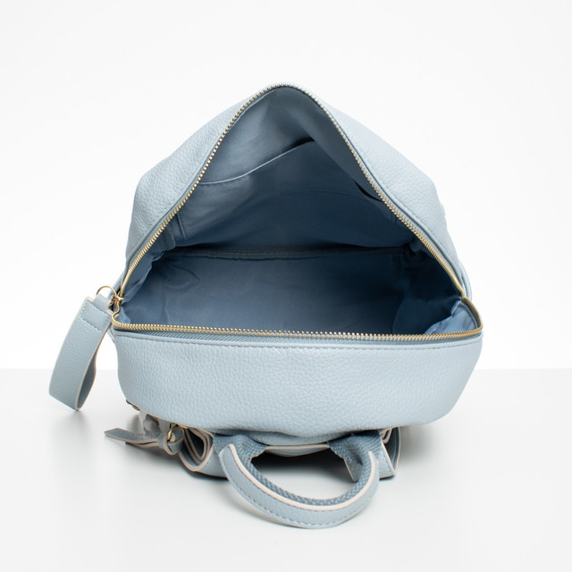 Batoh - koženkový s doplňky Diana, bleděmodrý