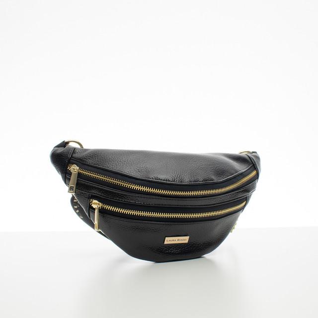 Ledvinka - černá s doplňky Laura Biaggi