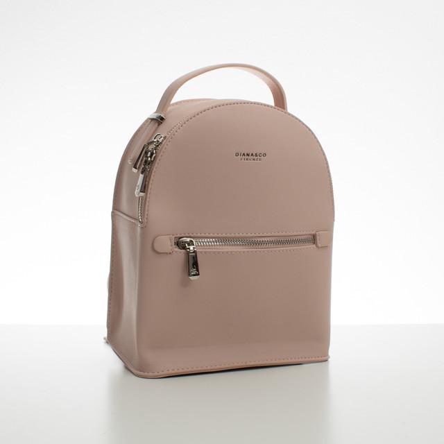 Batoh - malý koženkový Diana s doplňky, růžový