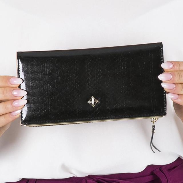 Peněženka - dámská Milano design koženková, černá