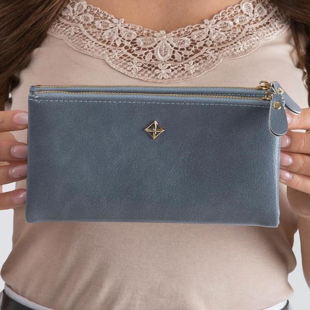 Peněženka - koženková Milano design šedomodrá