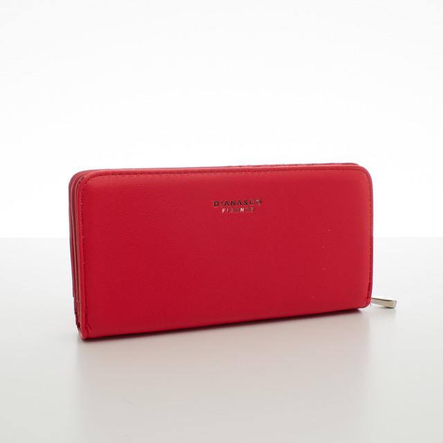 Peněženka - elegantní Diana do kabelky, korálová červená