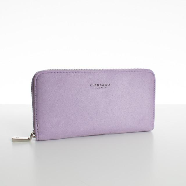 Peněženka - velká semišová Diana, fialová