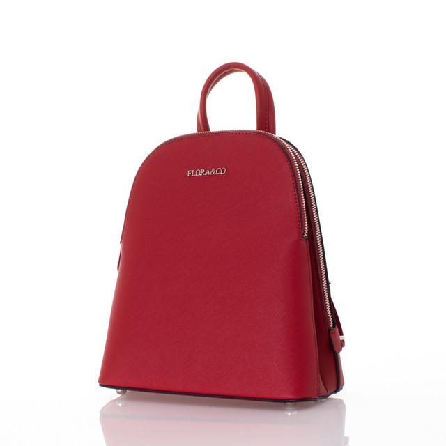 Batoh - Saffiano FloraCo červený