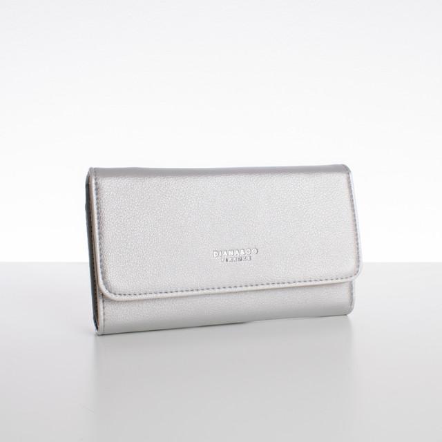 Peněženka - velká s cvokem Diana, stříbrná