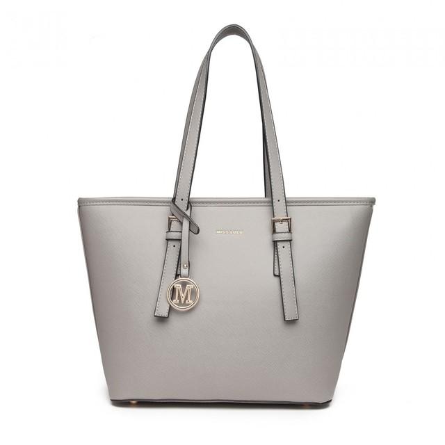 Kabelka - elegance na rameno šedá