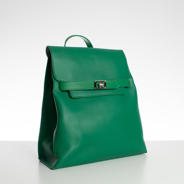 Batoh - se zámkem Diana, koženkový, zelený