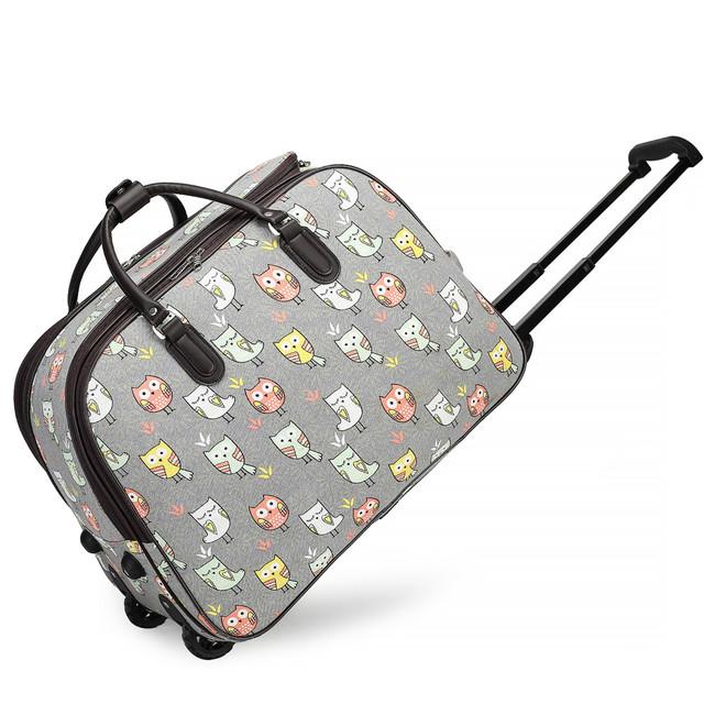 Cestovní taška - dětská se sovička, šedá