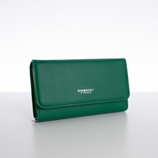 Peněženka - velká s cvokem Diana, zelená