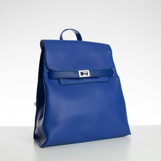 Batoh - se zámkem Diana, koženkový, modrý