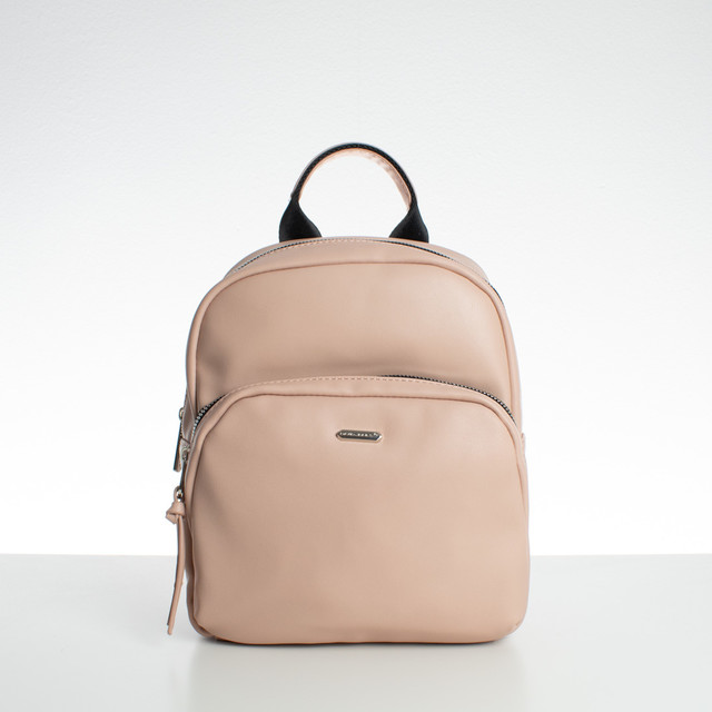 Batoh - medium David Jones koženkový, růžový
