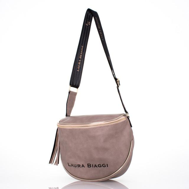 Kabelka - L Biaggi na rameno s doplňky taupe