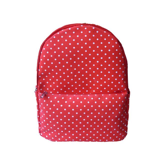 Batoh - tečkovaný do školy červený