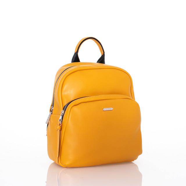 Batoh - medium David Jones koženkový žlutý