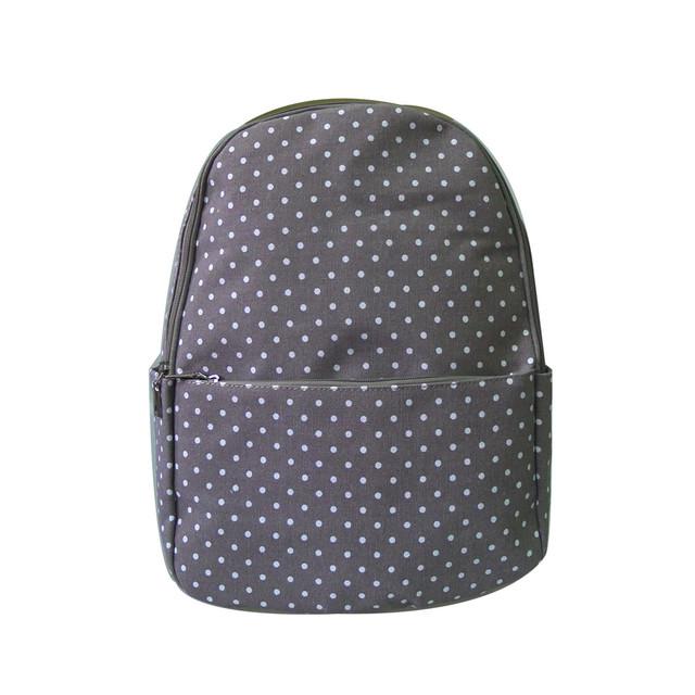Batoh - tečkovaný do školy šedý