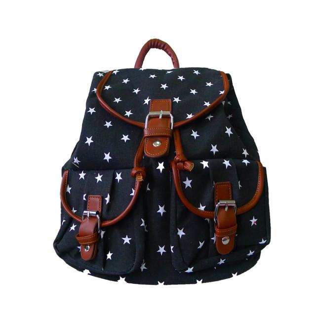 Batoh - hvězdičkový s kapsami černý