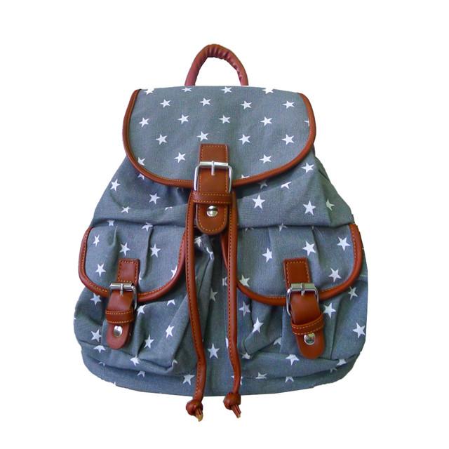 Batoh - hvězdičkový s kapsami šedý