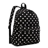 Batoh - tečkovaný, školní, stylový, černý