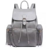 Batoh - vintage, velký, eko kožený, šedý