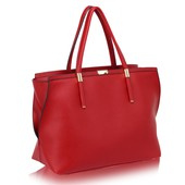 Kabelka - Camila, elegantní, grab, červená