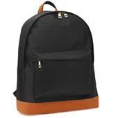 Batoh - školní látkový na zip, černý