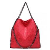 Kabelka - řetízková, hobo, stylová, červená matná