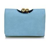 Peněženka - se sponou, malá, eko kožená, modrá