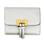 Peněženka - Mickey mini eko kožená s doplňky, stříbrná