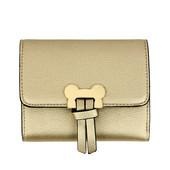 Peněženka - Mickey mini eko kožená s doplňky, zlatá