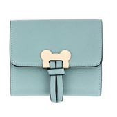 Peněženka - Mickey mini eko kožená s doplňky, modrá