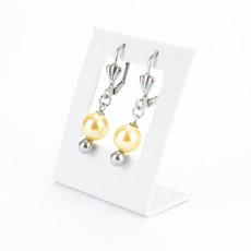 Set šperků - shell perlový náhrdelník, P8 s náušnicemi, zlatožlutý