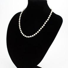 Náhrdelník - shell perlový, elegantní P6, bílý