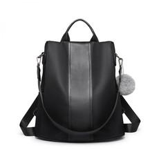 Batoh - elegantní přes rameno s PomPom přívěskem, černý