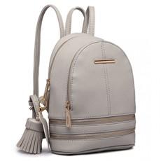 Batoh - mini, stylový, eko kožený, šedý